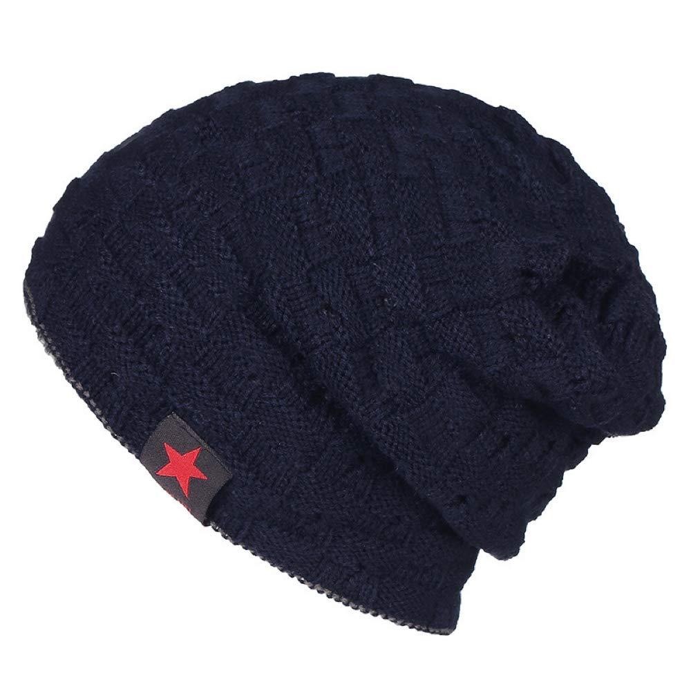 bluee NewDay Trendy Beanie Hat Skull Cap for Men Women Oversized Winter Fleece Lined Warm