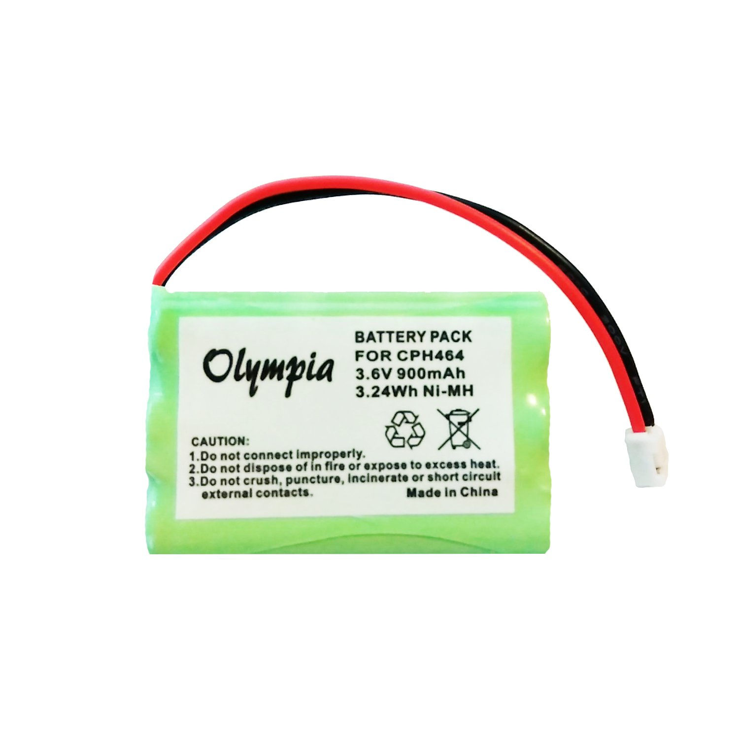 Motorola MBP36PU Battery - Replacement Battery for Motorola Baby Monitor (900mAh, 3.6V, NI-MH) Olympia Battery CPH464-5