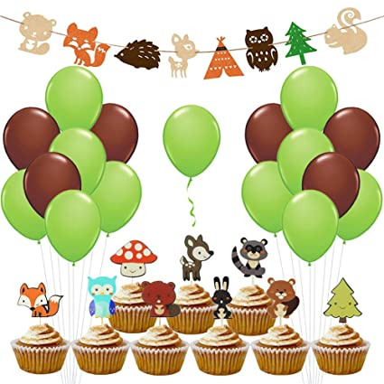 Luck Collection Woodland Party Supplies Woodland Creatures For Baby Shower Decorations