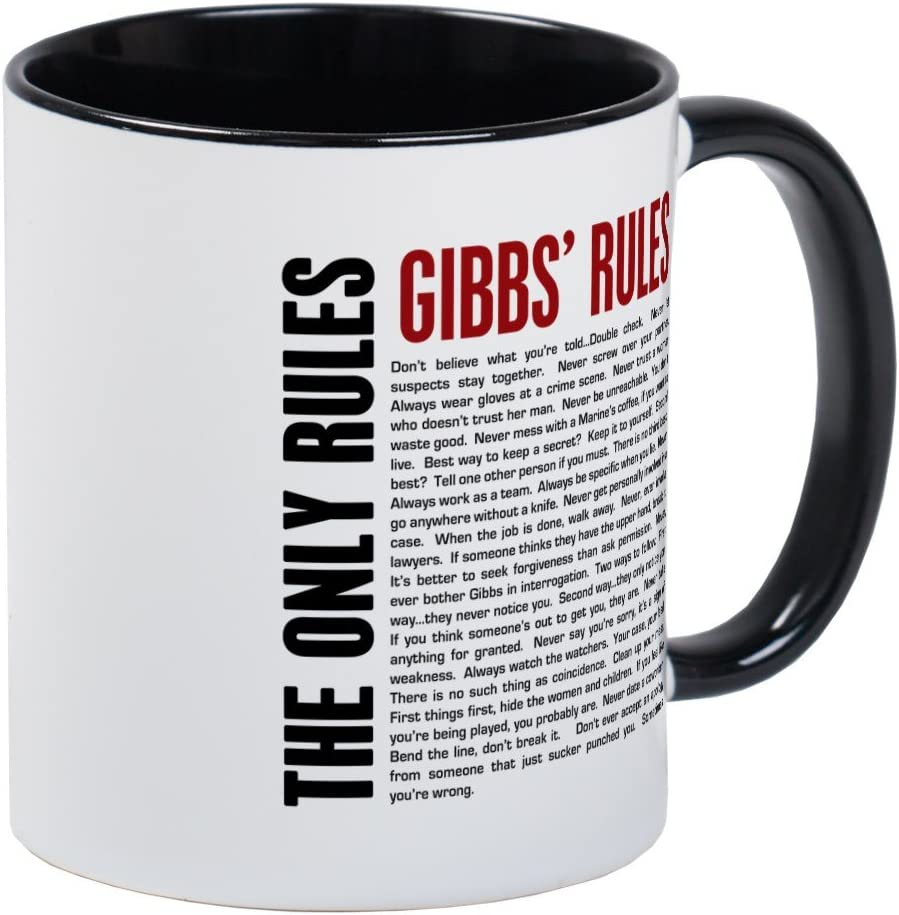 CafePress NCIS Gibbs' Rules Mug Unique Coffee Mug, Coffee Cup