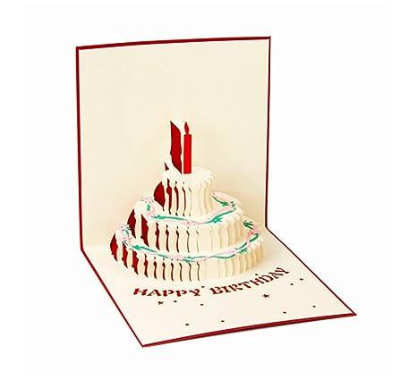 Amazon.com: Tarjeta de cumpleaños tridimensional para ...