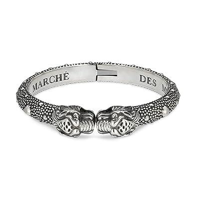 de0553198 Gucci pulsera Vintage tigre plata 7,08 pulgadas yba454240001019: Amazon.es:  Joyería