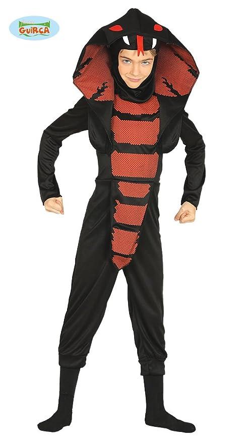 Guirca Costume vestito cobra ninja guerriero carnevale bambino 8736  5-6  anni 214cfa65d1f