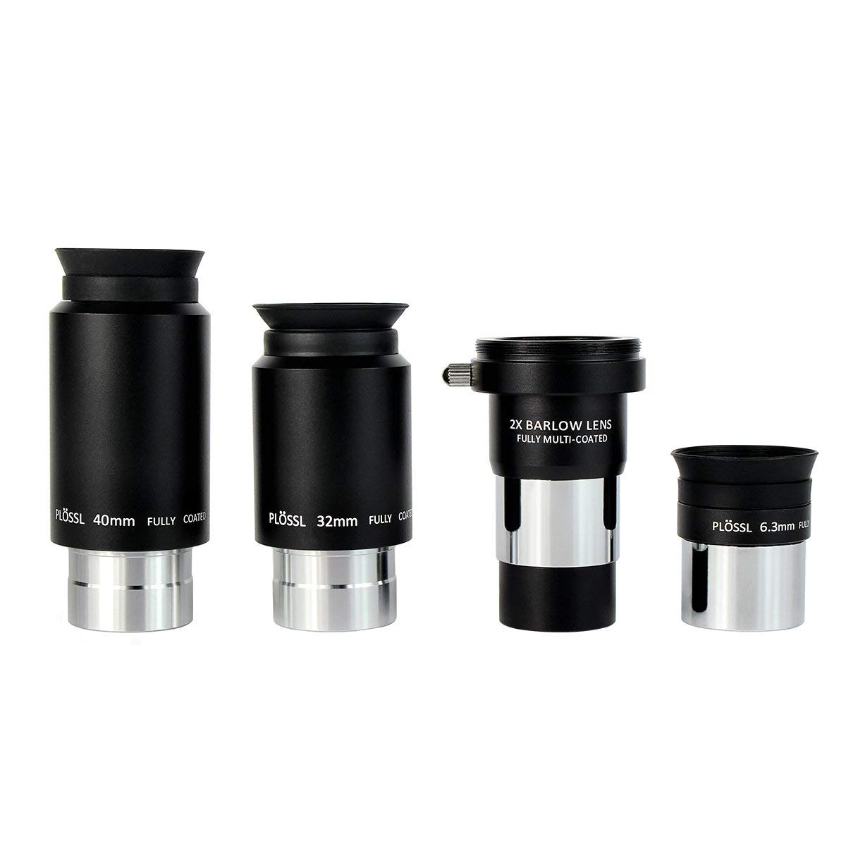SVBONY Telescope Eyepiece Set Telescope Accessory Set with 2x Barlow Lens 4 Element Plossl Design 6.3mm 32mm 40mm for Astronomical Telescopes by SVBONY