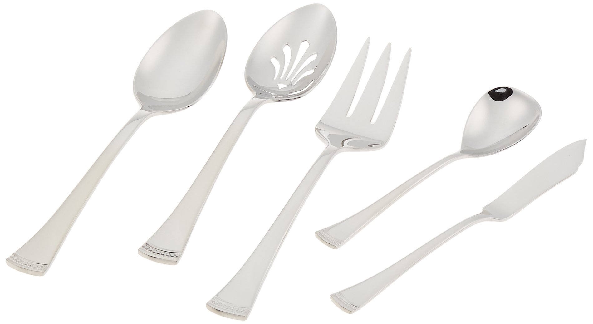 Portola 65-piece Stainless Flatware Set by Lenox by Lenox (Image #4)