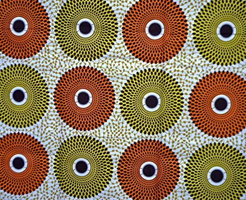 African Print - Ankara Fabric Clothing Designs Wax Material For Fashion, Styles With Patterns Of Prints. 6 Yards. -
