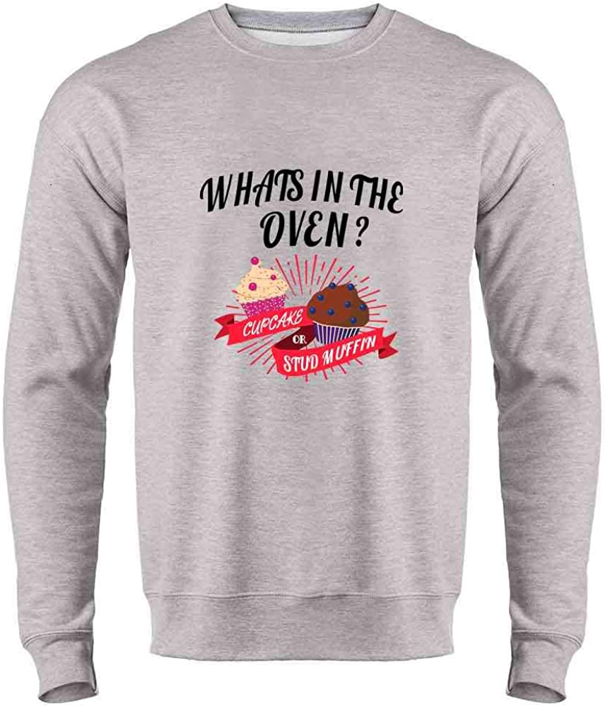 Gender Reveal What's in The Oven? Cute Funny Crewneck Sweatshirt for Men