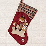 Damjic Snowflakes Top-Grade Christmas Stockings Gift Bags Santa Claus Snowmen Christmas Trees Window Decorations Christmas Decorations B