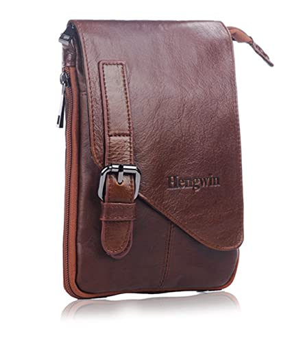 Amazon.com: Hwin Vertical Real Leather Case Pouch Holster Belt ...