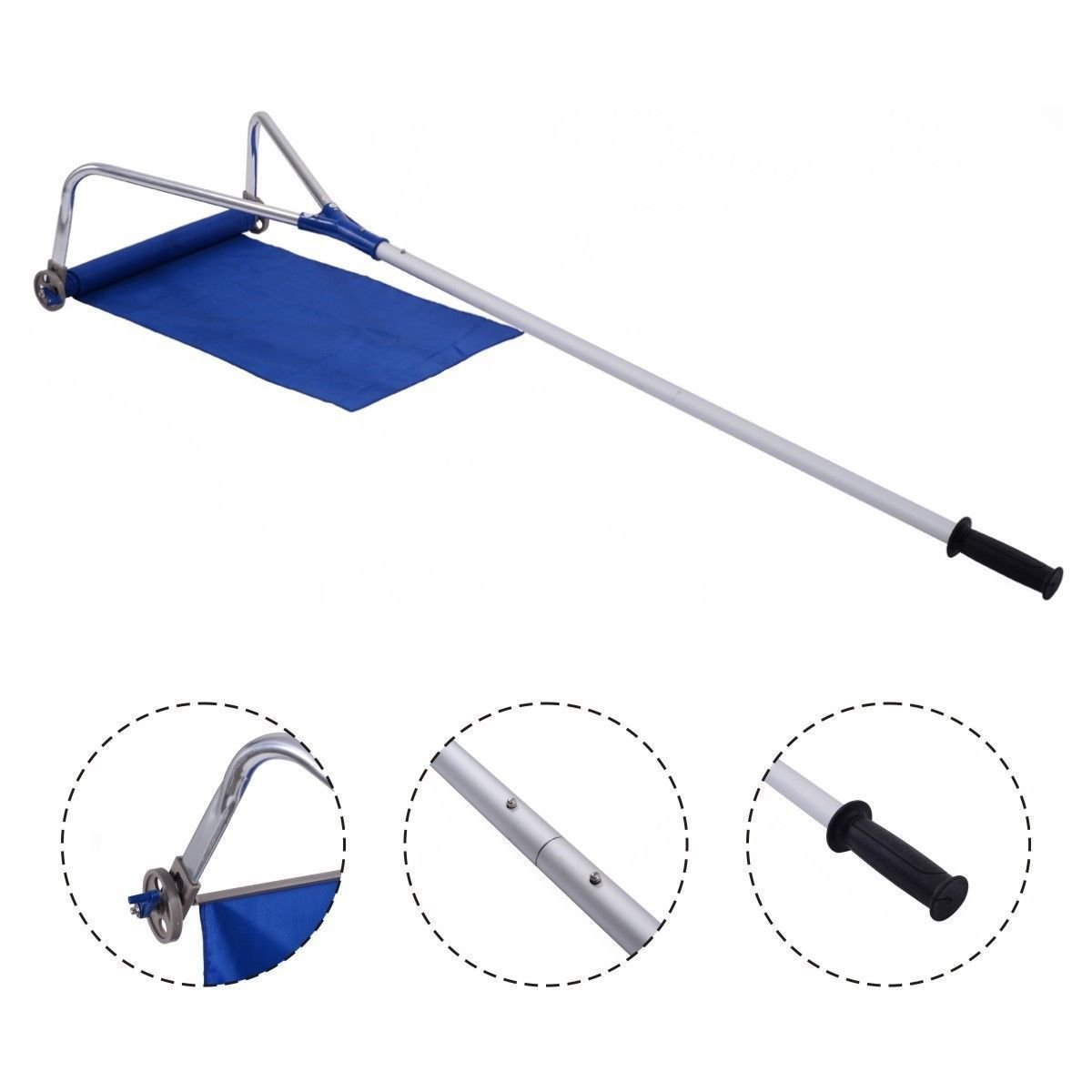 20FT Adjustable Telescoping Handle Lightweight Roof Rake Snow Removal Tool by Allblessings