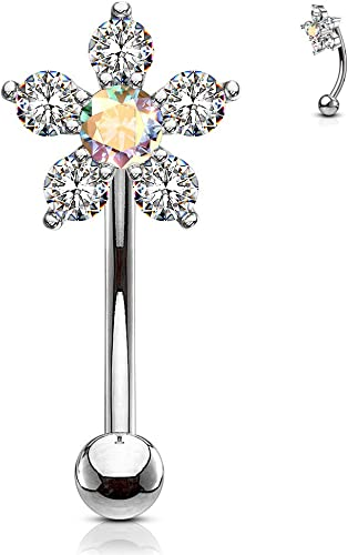 Covet Jewelry Jesus Christ Logo Acrylic Barbell Tongue Ring