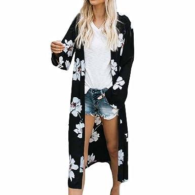 offerte esclusive prezzo di strada comprare bene Homebaby Copricostume Mare Cardigan Lungo Elegante Donna Chiffon - Vintage  Estivo Scialle Sexy Verde Kimono Vestito Lungo Estate Boho Tunica Etnica ...