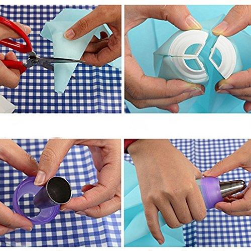 Nozzle Converter 1 pc 3 Holes Cake Decoration Converter Mix 3 Colors Icing Piping Nozzle Converter For Cupcake]()