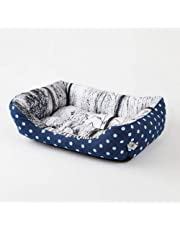 Pet Bed Dog Beds Cat Beds Washable with Removable Mattress Fleece Plush Cushion Kennel Pets Nest Basket,2,XL