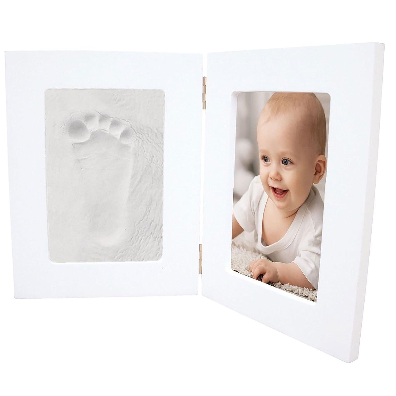 Baby Keepsake Hand /& Feet Clay Imprint Kit Footprint Kit /& Photo Frame Double
