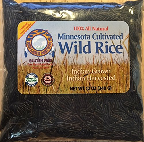 (GLUTEN FREE) Red Lake Nation 100% All Natural Minnesota Cultivated Wild Rice, 12 OUNCES by Red Lake Nation