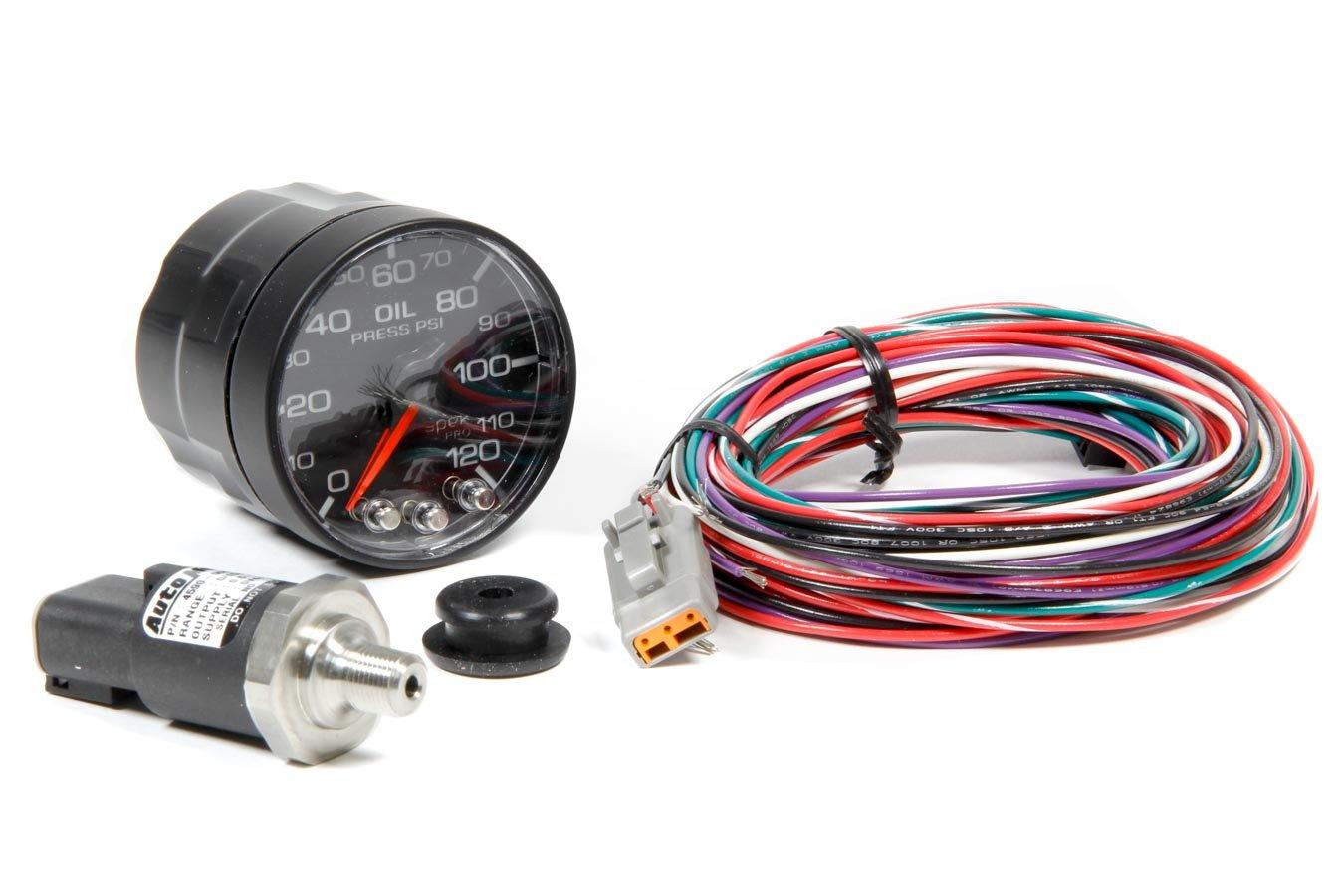 Pro Parts P325328 Spek 2 1 16 Electric Oil Pressure Psi Wiring Harness Gauge 0 120 524mm Automotive