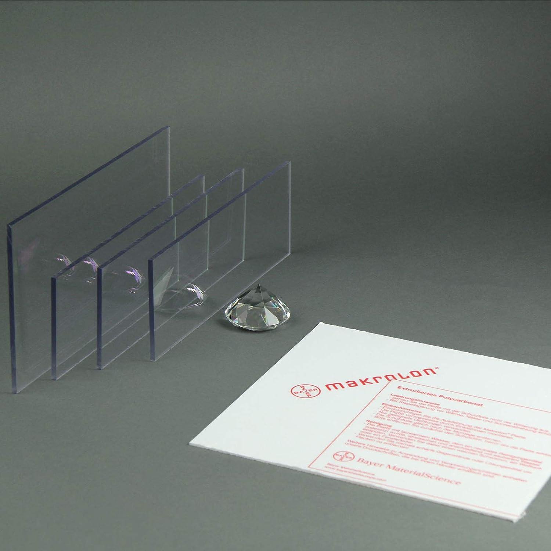 12 mm, 500 x 500 mm Makrolon//Polycarbonat Scheibe//Platte Zuschnitt 10-15 mm transparent//klar