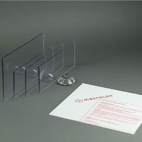 6 mm, 1500 x 500 mm Makrolon//Polycarbonat Scheibe//Platte Zuschnitt 2-8 mm transparent//klar
