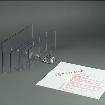 Makrolon//Polycarbonat Scheibe//Platte Zuschnitt 2-8 mm transparent//klar 3 mm, 800 x 600 mm
