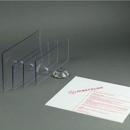 Makrolon//Polycarbonat Scheibe//Platte Zuschnitt 2-8 mm transparent//klar 4 mm, 1000 x 800 mm