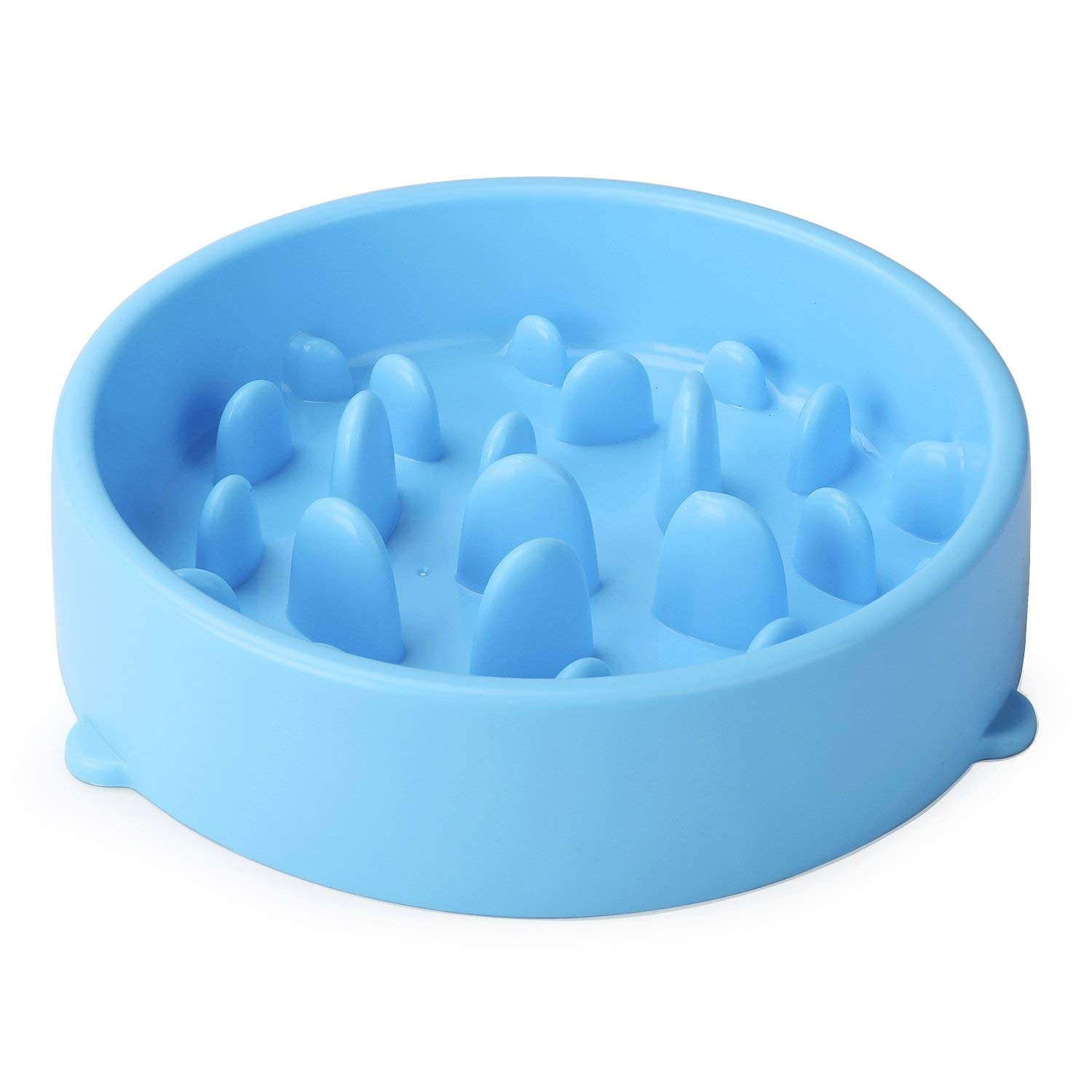 bluee Dog Feeder Slow Eating Non-Slip Pet Bowl Eco-Friendly Durable Non-Toxic Preventing Choking Healthy Design Bowl for Dog Pet