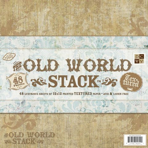 Better Crafts CARDSTOCK PAPER OLD WORLD STACK 12X12 48 SHEETS TEXTURED (3 pack) (0PS005000080) (Old World Stack)