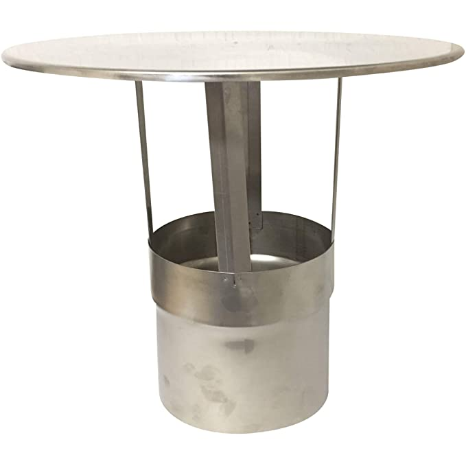 Acerto - Sombrero de chimenea, acero inoxidable, resistente a la intemperie, fácil de montar, ideal para proteger chimeneas de la lluvia, el viento y los ...