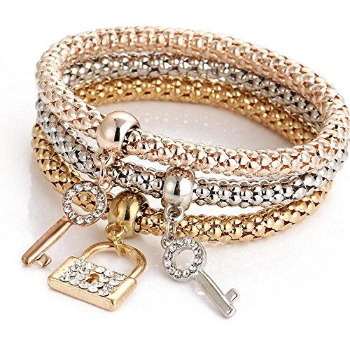 Crystal key lockset Chain Bracelet & Bangle (Chain Set Key)