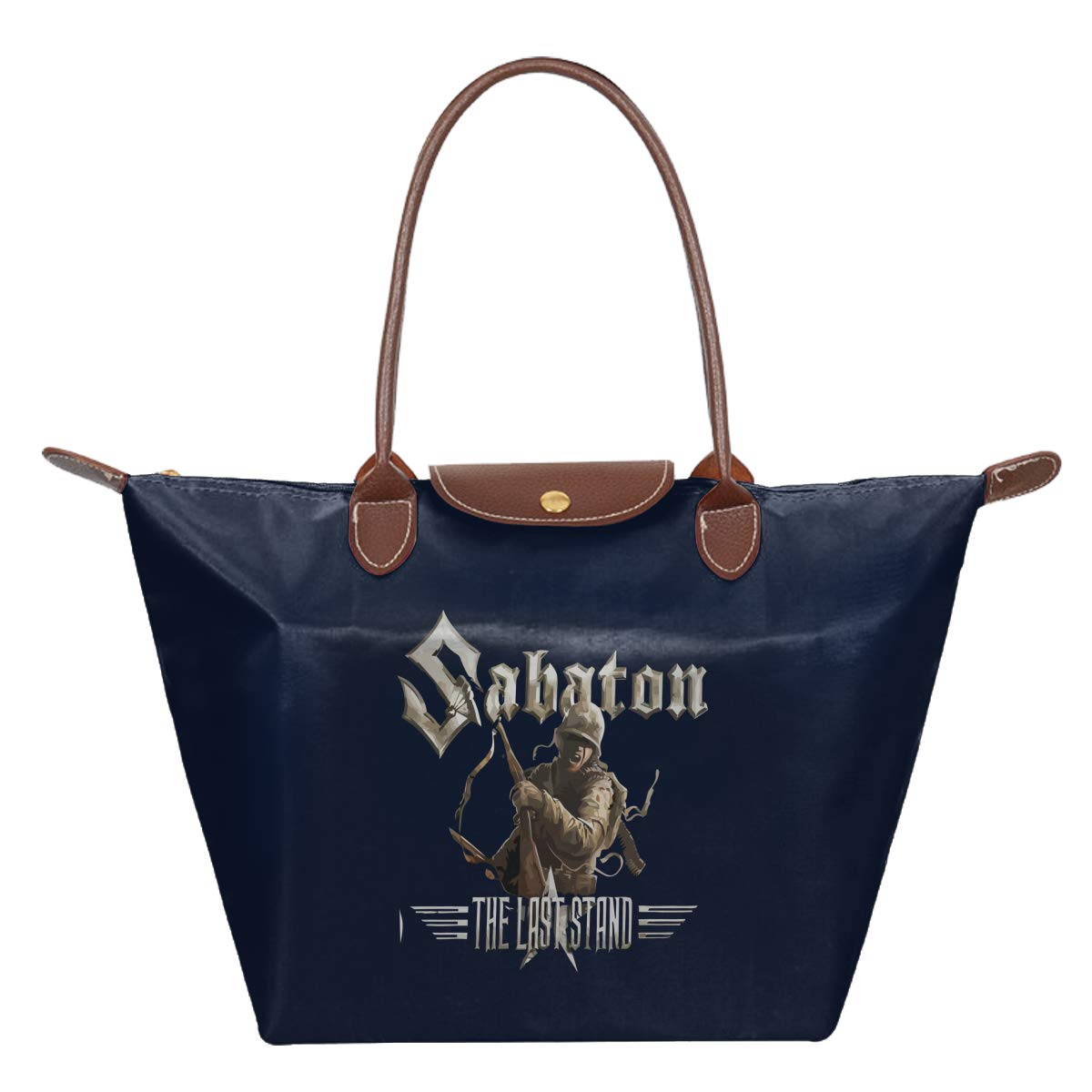 Sabaton The Last Stand Waterproof Leather Folded Messenger Nylon Bag Travel Tote Hopping Folding School Handbags