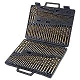 Brand New 115pc HSS High Speed Steel Titanium Drill Bit Set Metal w/ Index Carry Case