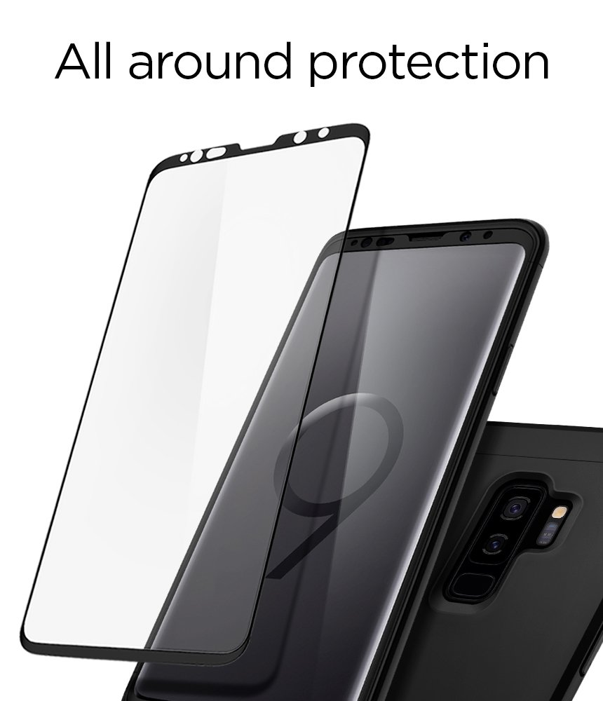 new arrival 89328 6df8f Spigen Thin Fit 360 Galaxy S9 Plus Case with Exact Slim Full ...