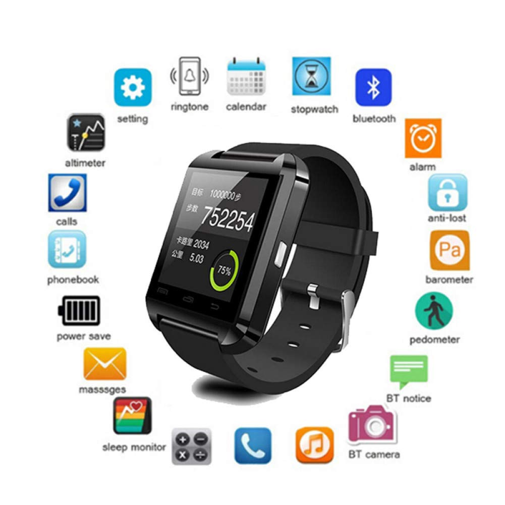 FRWPE Smart Watch U8 Smartwatch Clock Sync Notifier soporta ...