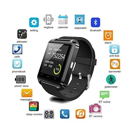 FRWPE Smart Watch U8 Smartwatch Clock Sync Notifier soporta ...