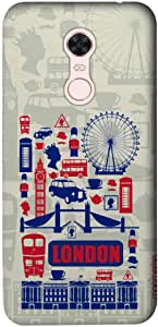 جراب بتصميم مدينة لندن سابلايم لهاتف شاومي ريدمي نوت 5 من ماكمريسي