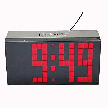 LambTown Jumbo LED Reloj de Pared Digital con Alarmas Calendario Termómetro Luminoso Para la Cocina Junto a la Cama - Rojo: Amazon.es: Hogar