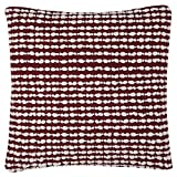Rizzy Home T10821 Decorative Poly Filled Throw Pillow 20'' x 20'' Red/White