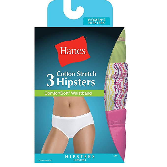 98151f856 Image Unavailable. Image not available for. Color  Hanes Women s Cotton  Stretch Hipster ...