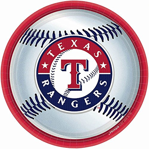 Texas Rangers Party Plates - 18