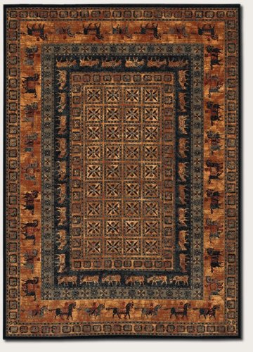 COURISTAN INC Couristan Old World Classics Pazyrk Burnished Rust Wool Rug - 9