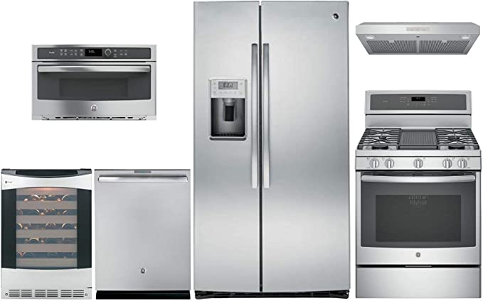 Amazon.com: GE Profile 6 Piece Kitchen Appliance Package ...