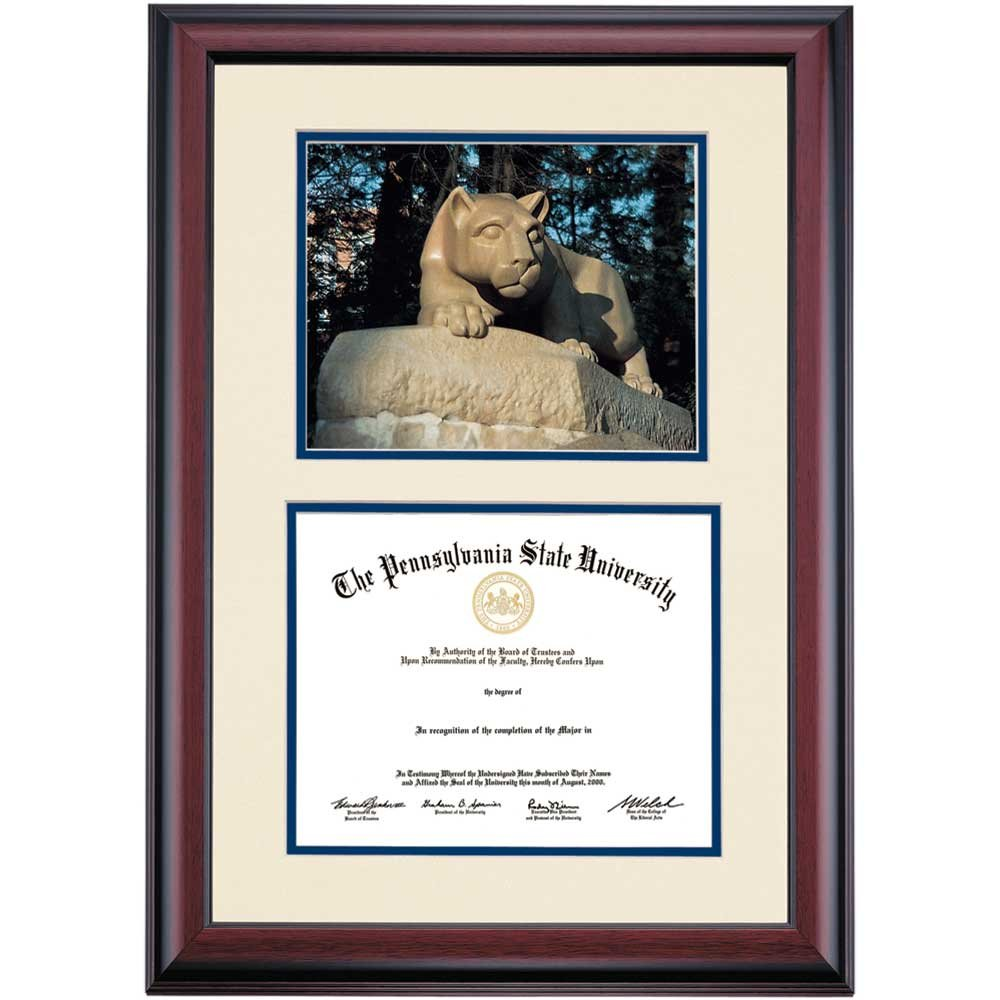 Amazon.com - Penn State Nittany Lions Diploma Frame Ivory Navy ...