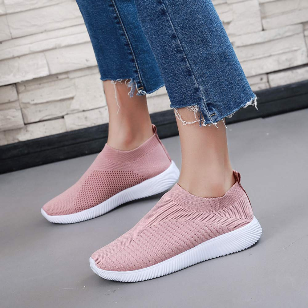 Clearance Womens Mesh Sneakers,Realdo Outdoor Barefoot Slip On Jogging Shoes