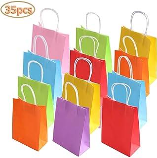 Amazon.com: Tomnk 32 bolsas de papel, 8 colores bolsas de ...