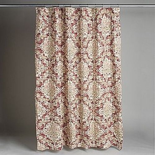 Country Living Country Living Piccadilly Pink Rust Medallion Fabric Shower Curtain Bath Price