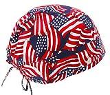 Stars & Stripes USA American Flag Scrub Cap Hat