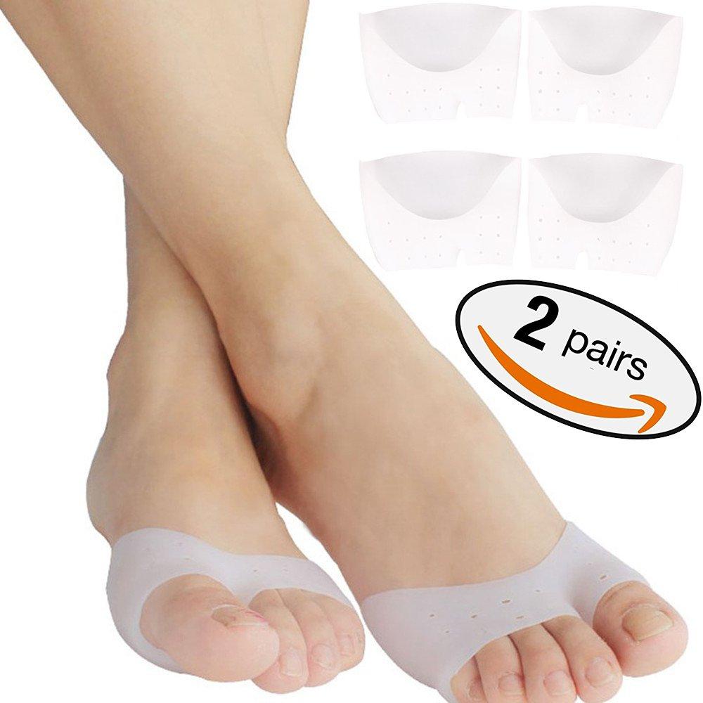 1 Paar Ball Of Foot Kissen Metatarsale Pads Schmerzlinderung. Silikon-Gel-Füße Stützauflage für Mortons Neurom, Plantar Fasciitis & Metatarsalgia sofortige Schmerzlinderung. Tragbare Ballettschuhe. (Halbe Zehe) Tinkber Half Toe