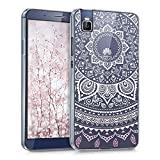 kwmobile Crystal TPU Silicone Case for Huawei ShotX in light pink white transparent Design Indian sun