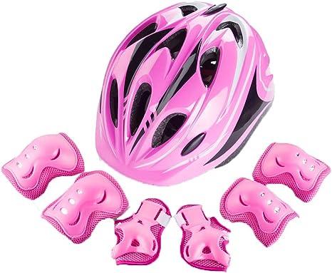 Protección Bicicleta Equipo Casco niños monopatín Bicicleta Resistente a la Rotura Deportes Protector de Rodilla Casco Alto (Color : A, Size : Head Circumference:54-58cm): Amazon.es: Deportes y aire libre
