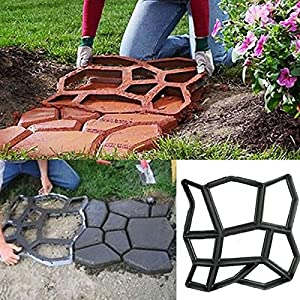 GUFAN DIY Paving Mould Garden Patio Path Concrete Slabs Walk Maker Mould 45  X 45 X 4 Cm